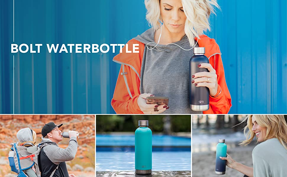 Simple Modern Bolt Water Bottle Hero
