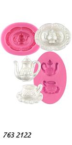 Vintage Teapot Molds 2-count