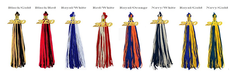 2020 tassels for graduation double color