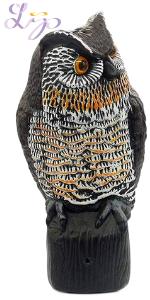owl decoy pest control predator repellant repel mice birds skunks squirrel garden protect decor