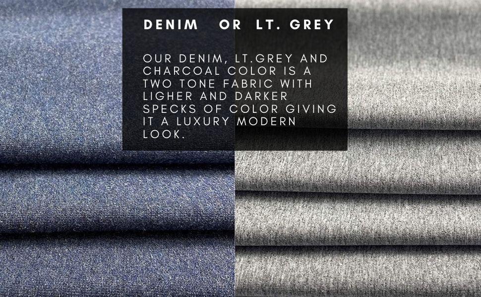 cotton lycra fabric 12 oz denim lt. grey charcoal