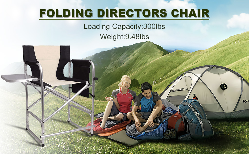 Tall Folding Directors Chair Portable