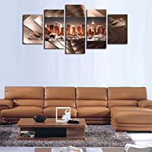 New York City Wall art Canvas Brown