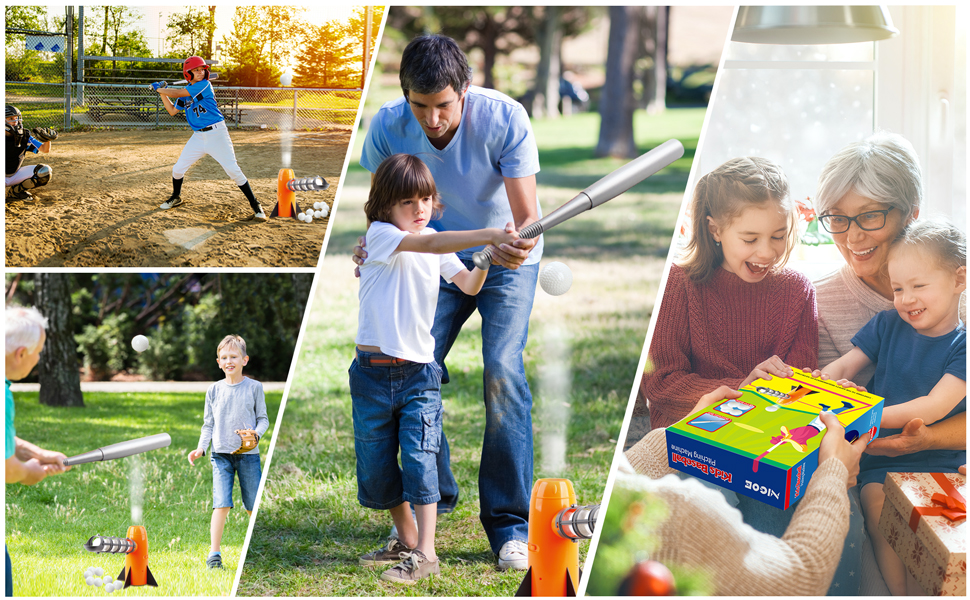 NIGOE Kids Baseball Toy is a great outdoor sport for boys