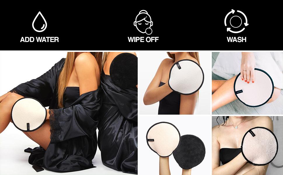face scrub pads physical body exfoliator body pads