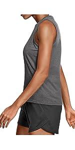 Gray Running tops for women
