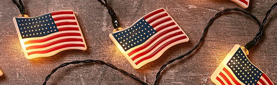 american flag lights