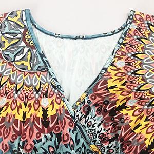Women's summer short sleeve v-neck slim dress