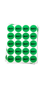 1PK |1 inch - Round Months of the Year: May Stickers