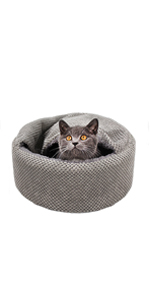 CUTE NEW STYLE ROLL SMALL PET DOG CAT BED CAVE