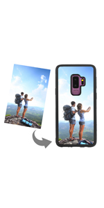 Customized photo phone case for samsung black backup phone case with text picture personalized gift