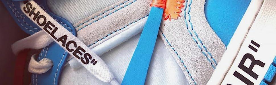 shoe laces off white, lit laces