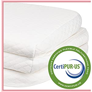 Stock Your Home Pack and Play Mattress Trifold Portable Mini Crib Roll Up Mattress Pad