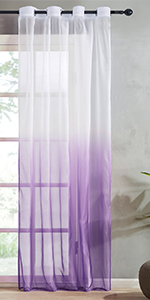 purple ombre sheer curtains