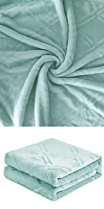 Coral Green Blanket