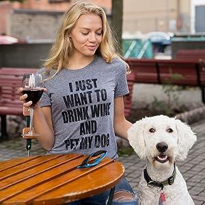 drink wine pet dog