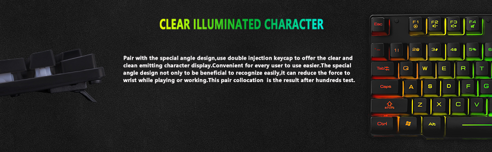 led backlit gaming wired usb keyboard ergonomic keyboard for mac ps4 xbox one windows 8 9 10
