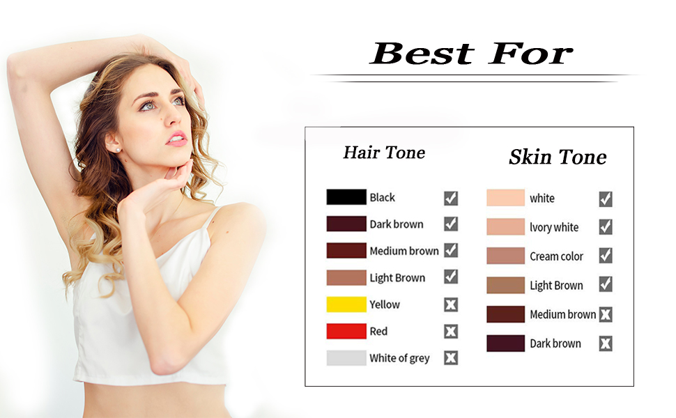 suitable hair tone for ipl hair removal device