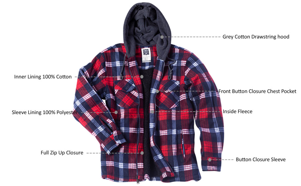 Flannel jackets for mens