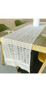 Natural Macrame Table Runner
