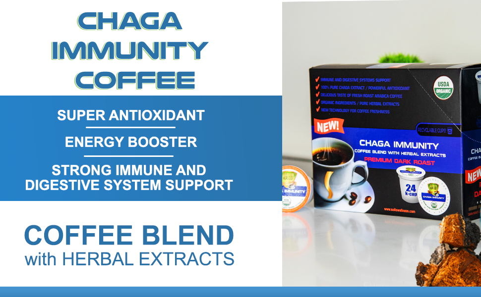 chaga dark coffee mushroom arabica