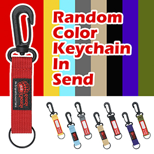 Cool cute wallet with random color key tag for handling car home key FOB or being a keychain wallet