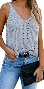 knit tank top for women