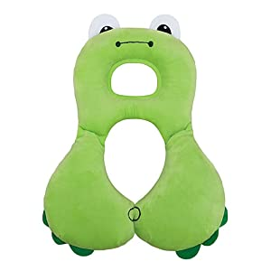 baby travel pillow green frog L