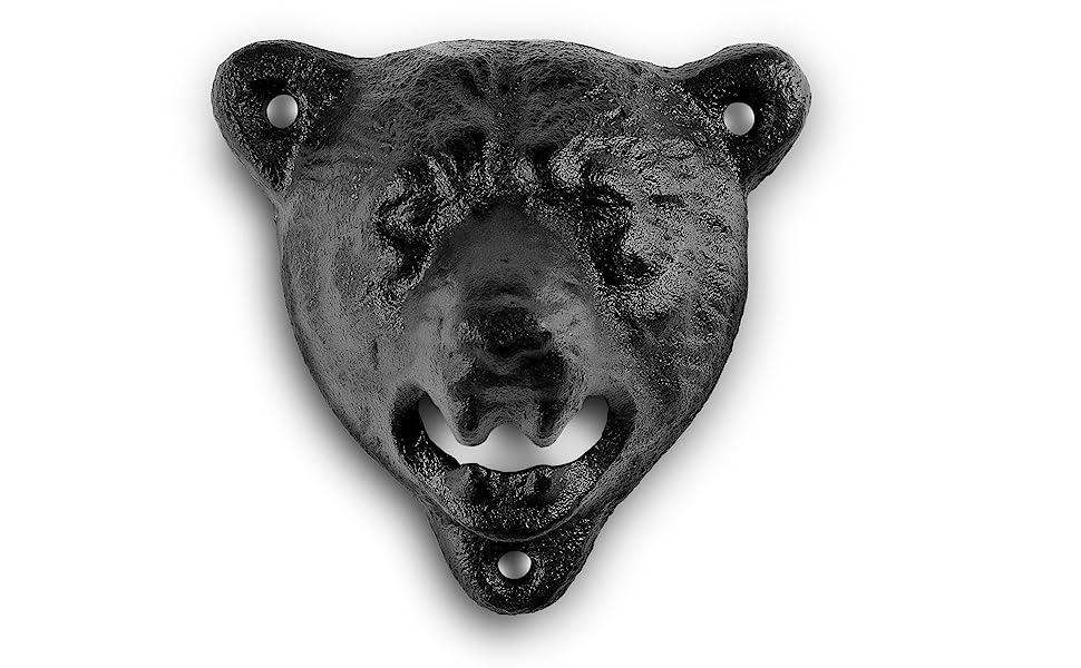bear mounted bottle opener