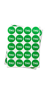1PK | Days of the week: Thursday Stickers