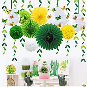 paper lanterns decorative green party supplies green party decorations