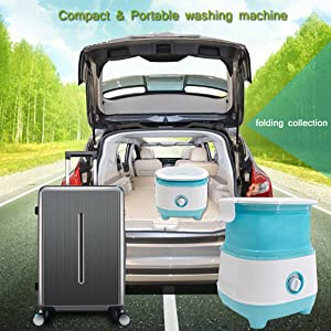 Upgraded Portable Foldable Washing Machine