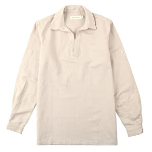 Mens khaki cotton linen t shirt