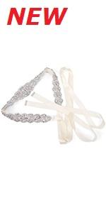 women crystal wedding sash belt
