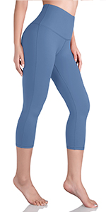 High waist yoga capris with innner pocket