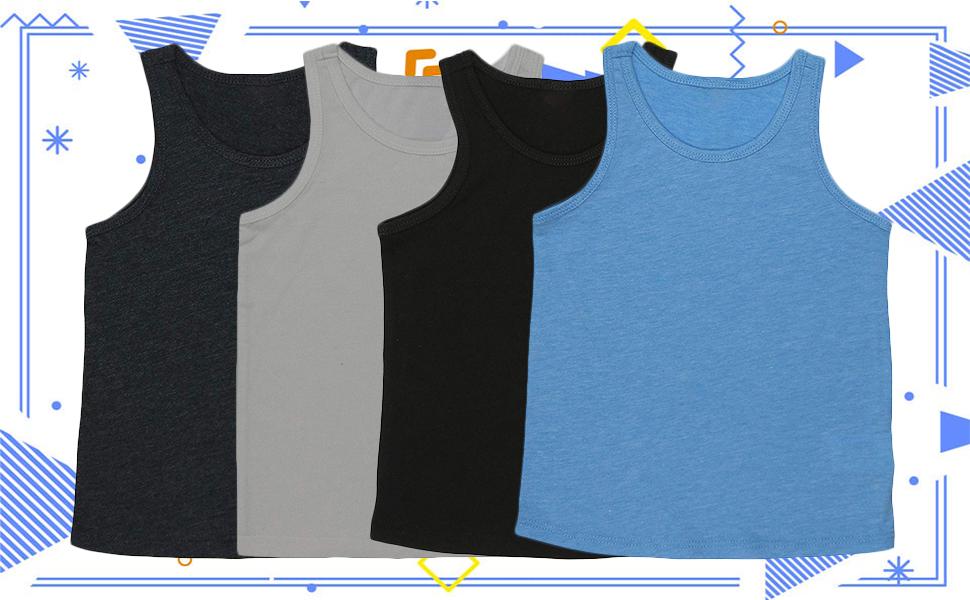 kids soft lightweight jersey scoop neck tank top