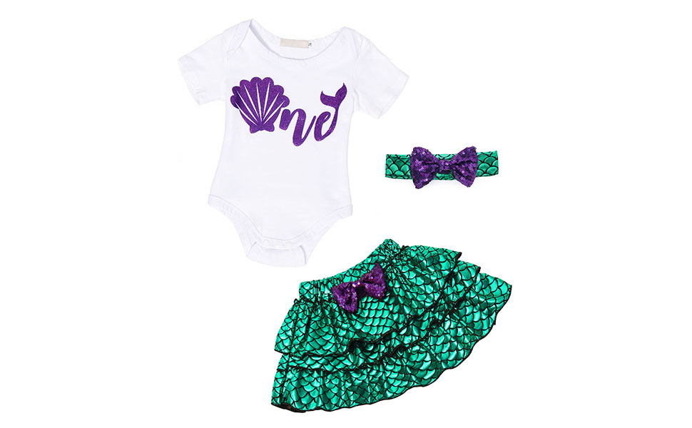 3pcs mermaid princess costume outfits dress up cosplay clothes party Halloween HG076-11