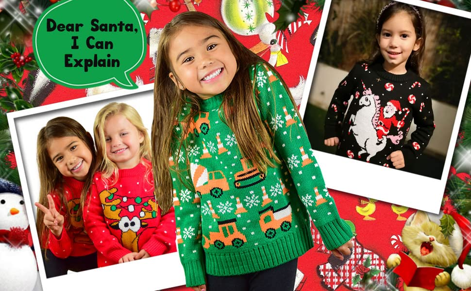 ugly Christmas sweater for girls ugly Christmas sweater for boys