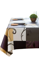 Heavy Weight Vinyl Square Table Cover Wipe Clean PVC Tablecloth Oil-Proof