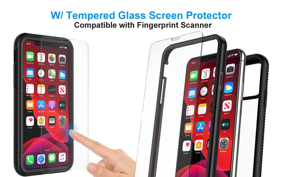 W/ Tempered Glass Screen Protector