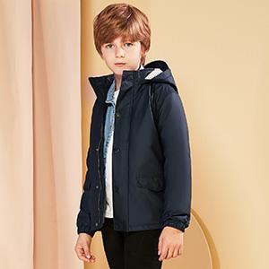 SOLOCOTE Kids Rain Jacket Hooded Lined Raincoat for Boys//Girls Waterproof Windproof with YKK Zipper 180806 5-6Y P Pink
