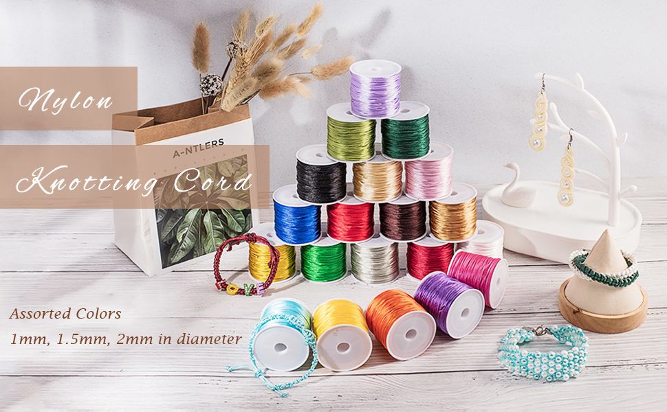 Satin Rattail Silk Cord for Necklace Bracelet Beading Cord