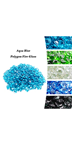 Polygon Fire Glass