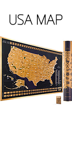 Scratch Off Map of The USA