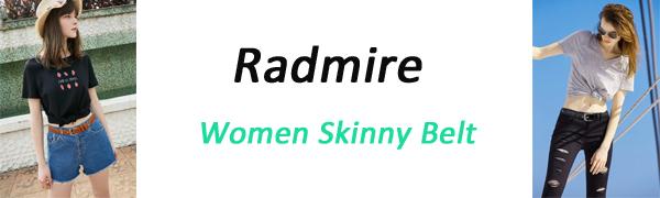 women skinny belt