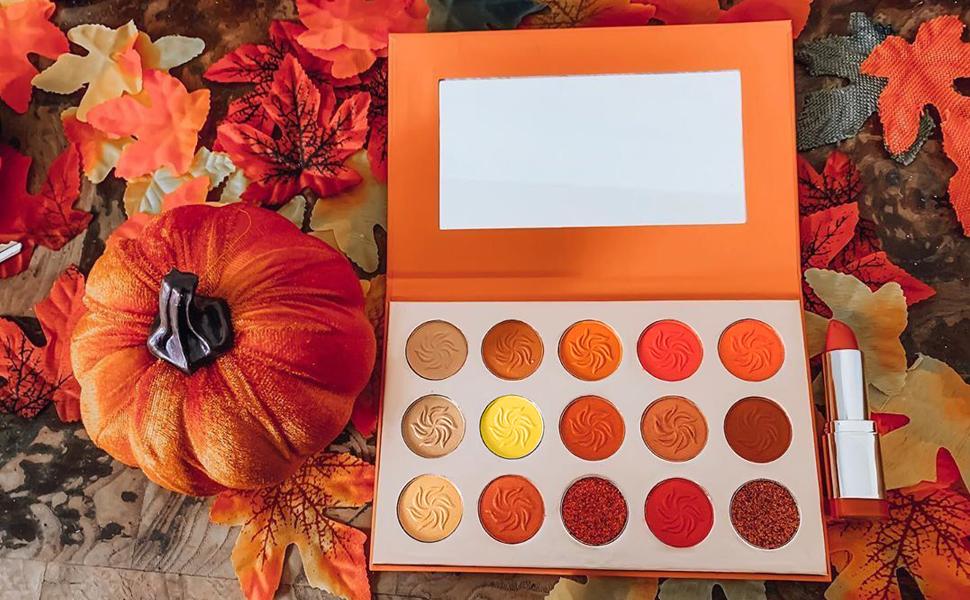 yellow orange eyeshadow palette