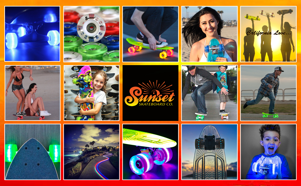 SUNSET brand collage california love good times beach lifestyle relax chill party yolo