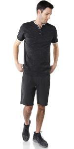 button henley long sleeve round bottom moon color block activewear mens signature teen teenager