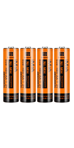 4-Pack iMah HR6 1.2V 2400mAh AA Rechargeable Batteries