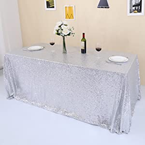silver rectangle tablecloth